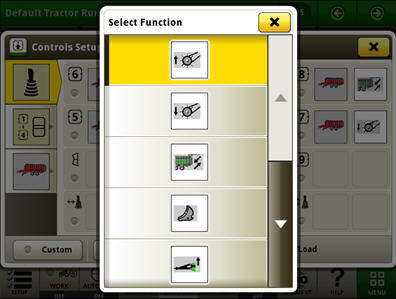 Function selection for the ISOBUS implement