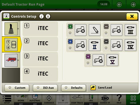 Controls set up example in CommandARM setting – controls setup in the CommandCenter