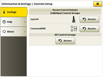 Select restore of the factory controls in the advanced settings