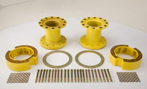 Controlled traffic wheel spacer kit