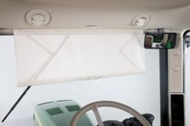 Front pull-down sun shade
