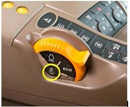 Foot pedal lock button