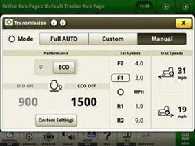 IVT manual mode settings