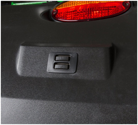 3-point hitch switch on fender of 9R