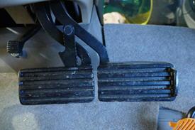 Unlocked brake pedal