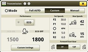e18 custom transmission page