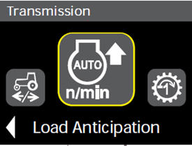 Load anticipation settings in cornerpost display