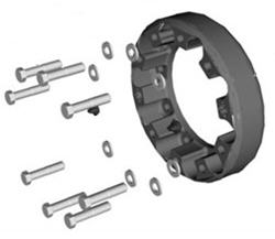 Track extension for front axle — two spacers, 94 mm each (3.7 in.) —  track extended to 2,000 mm