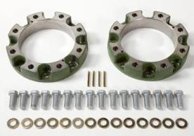 Two front wheel spacers, 60 mm (2.36 in.) each