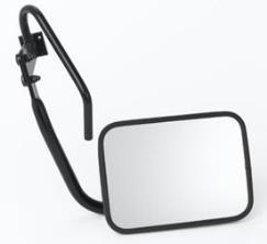 Additional internal rearview mirror, rear-window mounted
