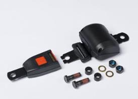 Seat belt with mounting parts (for seats without CommandARM™ controls only)