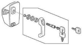 Security door lock kit