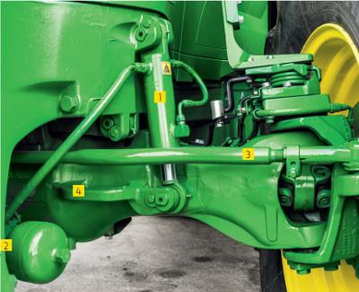 TLS front suspension puts maximum power to the ground