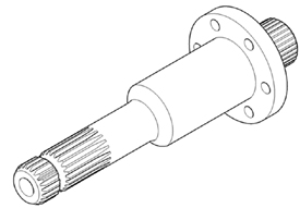 35-mm (1.375-in.) PTO shaft shown