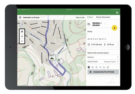 John Deere intelligent ag navigation and fleet logistics