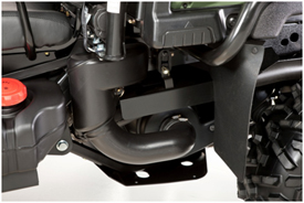 Side view of CVT intake and clutch on closure (XUV855D shown)