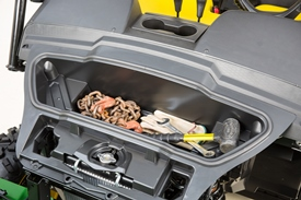 Sealed under-hood storage
