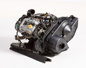 35.8 cu in. (586-cm3) gasoline engine