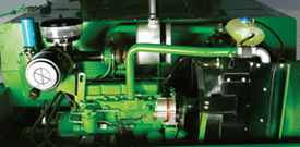 55.9-kW (75-hp) John Deere engine