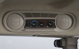 Easy-to-reach side heater and air-conditioning controls