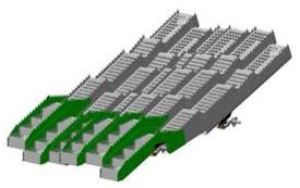 Modello di scuotipaglia a sette gradini