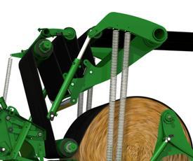 Il braccio per la regolazione della densità applica la necessaria tensione alle cinghie