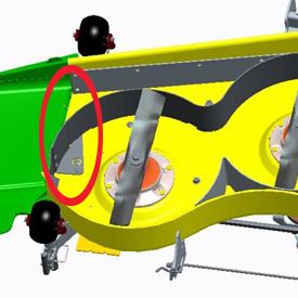MulchControl™ con deflettore chiuso