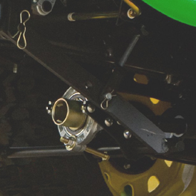 Opzione AutoConnect™ installata su trattorino X948