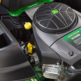 Motore bicilindrico a V con una potenza di 13,0 kW a 3.350 giri/min.