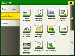 Pagina di selezione per gestire il layout