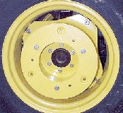 Rear wheel starter weight