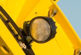 Additional lights improve visibility to the transport vehicle