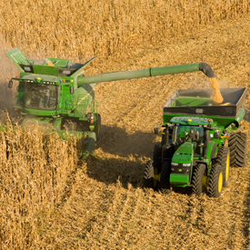 AutoTrac RowSense™ system during corn harvest