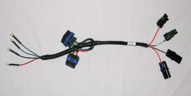 Half-width adapter harness for KINZE planters
