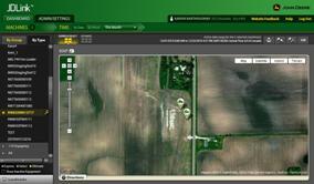 Equipment locations shown in JDLink web application