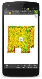 Yield monitoring on Android® app