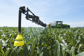 John Deere Section Control utilized on 4830 Sprayer