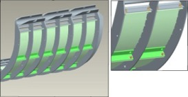 Concave cover plates for round-bar concaves only