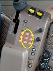 ProDrive buttons on armrest