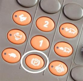 Park brake button