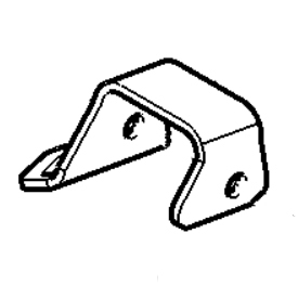 Right-hand front tie-down bracket illustration