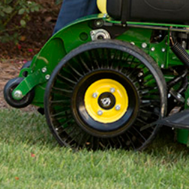 Tweel rear tire on QuikTrak Mower