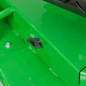 Easy-to-remove mower deck shields