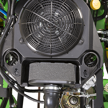 Engine air filter and cleanout ports, W52R engine shown