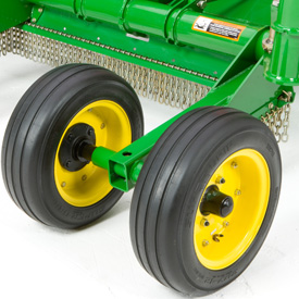 Optional dual wheels shown on MX15 center section