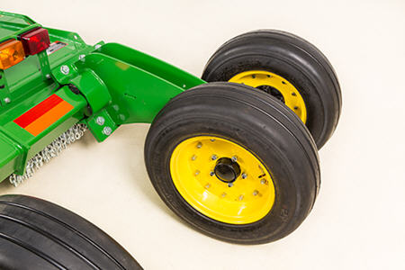 Exclusive John Deere-patented torsional suspension