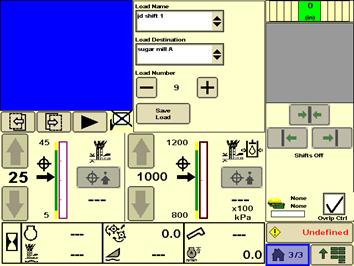 Screen shot showing load counter