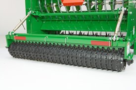 Rear cultipacker firms and smoothes seedbed