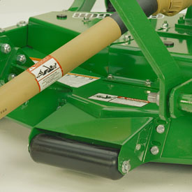 Anti-scalping roller attaches to front of deck