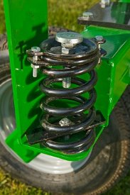 Fine-tuning spring allows for top-quality raking